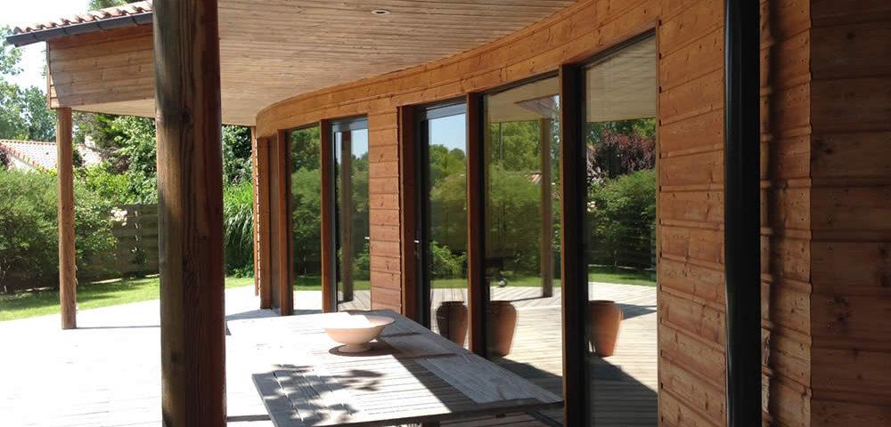 réalisation Maisons Acadie : extension de maison avec batiment ossature bois