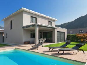 MAISONS ACADIE-constructeur maison romans-maison moderne-baies vitrées