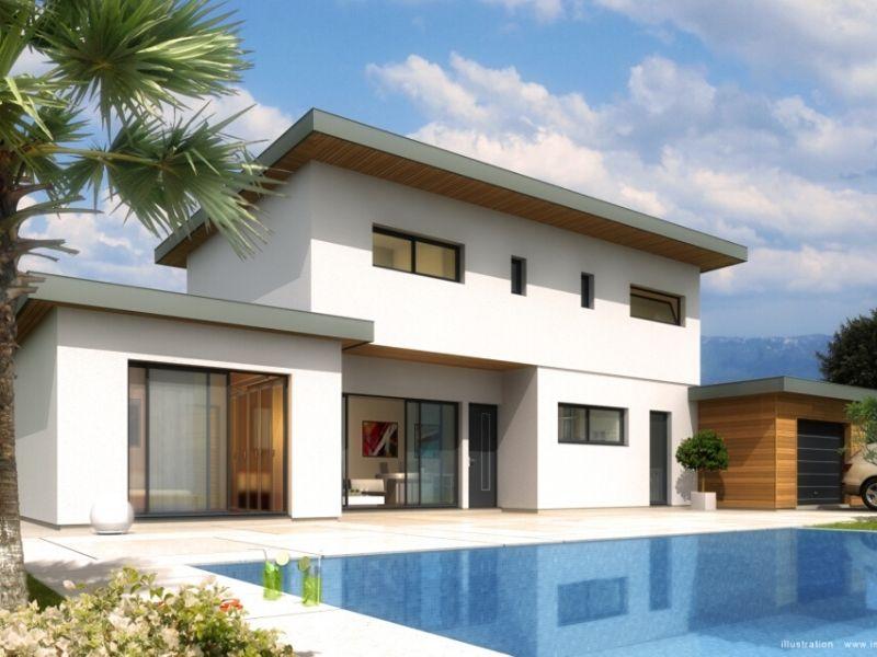 MAISONS ACADIE-constructeur maison romans-maison moderne toit plat avec piscine