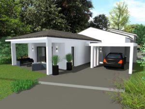 Maisons Acadie_constructeur maison valence 26000-maison neuve valence-style contemporain