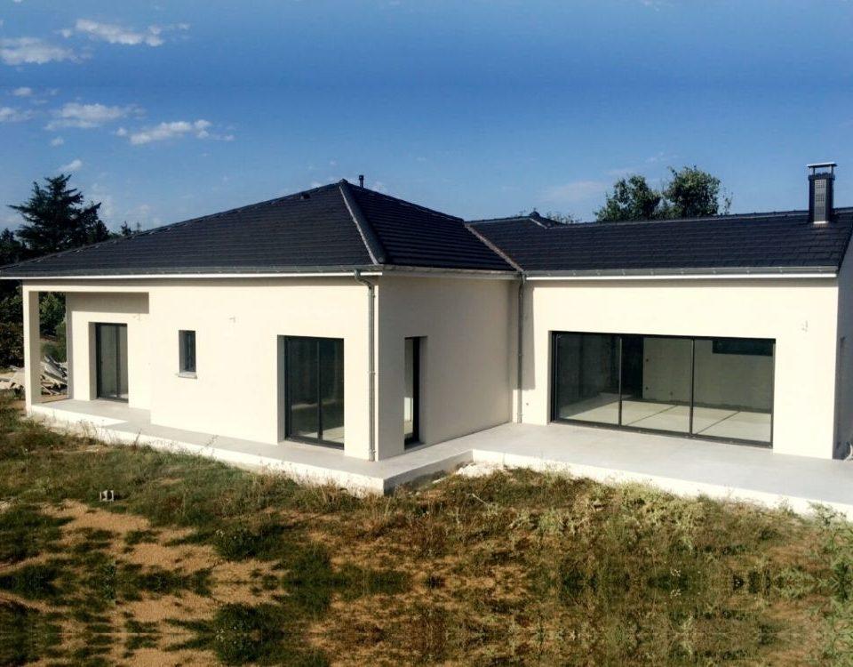 Acadie Valence - Réalisations -maison individuelle - maison moderne drome